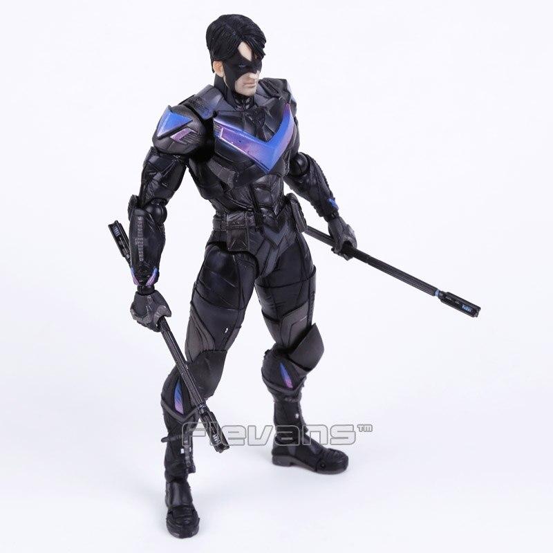 Oyuncaklar ve Hobi Ürünleri'ten Aksiyon ve Oyuncak Figürleri'de Oyna Sanatları KAI Batman Arkham Şövalye NO. 6 NIGHTWING PVC Action Figure Koleksiyon Model Oyuncak'da  Grup 3