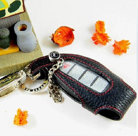 100% Новый Кожаный Чехол Ключа Автомобиля для Nissan G25 QX50 FX35 EX25 QX56 JX35 M25, Брелоки