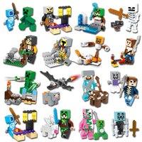 MyWorld DIY Building Blocks Compatible Legoings Minecrafted Sword Espada Models Assembling Building Blocks Model Toys For