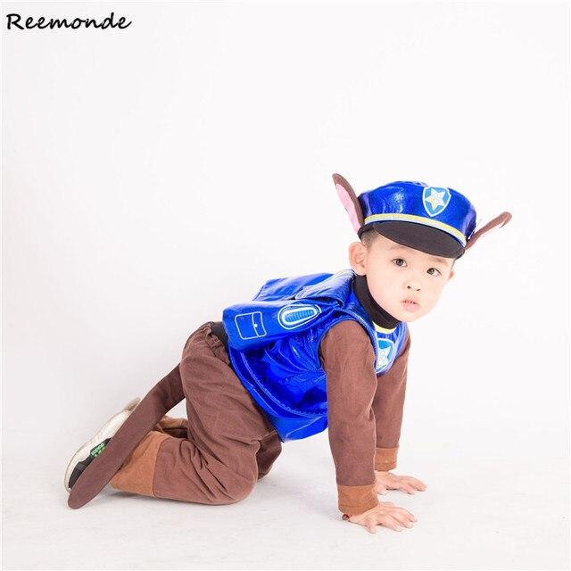 Call Wang Wang Team Pants Suits Anime Dog Cheas Cosplay Costume Children Kid Patrol Dog Cartoon Party Clothes Boy Girl Clothing