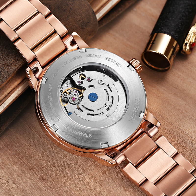 OCHSTIN Top Luxury Brand Fashion Gold Automatic Mechanical Watches Men Watch Relogio Masculino Sport Business Wristwatches in Mechanical Watches from Watches