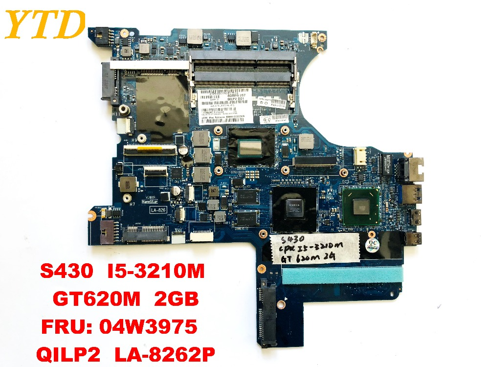 Original for Lenovo Thinkpad S430 laptop motherboard <font><b>I5</b></font>-<font><b>3210M</b></font> GT620M 2GB FRU 04W3975 QILP2 LA-8262P tested good free shipping image