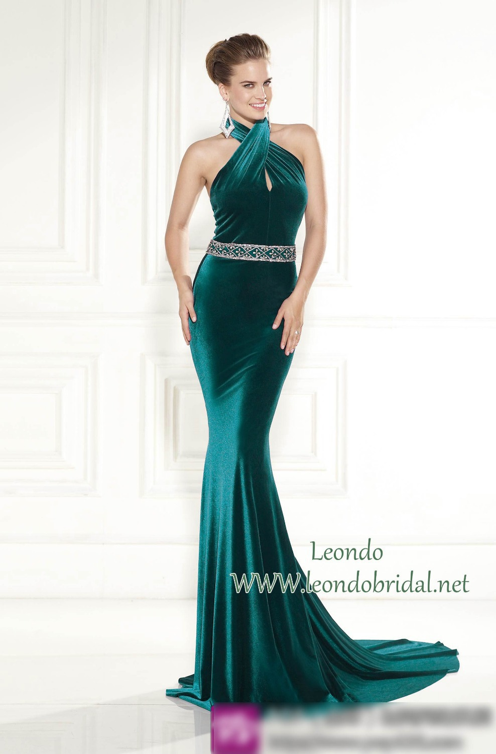 Aliexpress.com : Buy Tarik Ediz Green Prom Dresses 2015 New ...