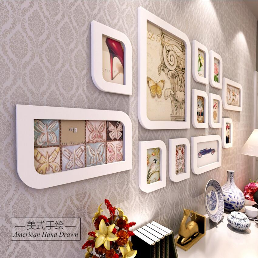 12pcs setfashion wedding photo frames creative living room for Dining room picture frames