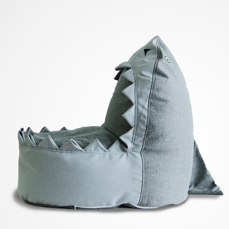 Cartoon Shark Kids Bean Bag Sofa Children Bedroom Bean Bag Sofa Chair Outdoor Beanbag Sofa Bed Lazy Single Couch With Filler