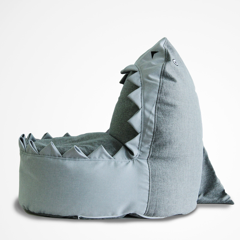 Cartoon Shark Kids Bean Bag Sofa Children Bedroom Bean Bag ...