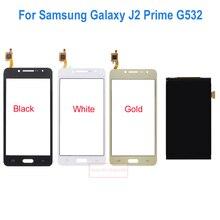 Nueva negro/blanco/oro/plata touch pantalla digitalizador + pantalla lcd para samsung galaxy j2 prime sm-g532f g532 reemplazo móvil