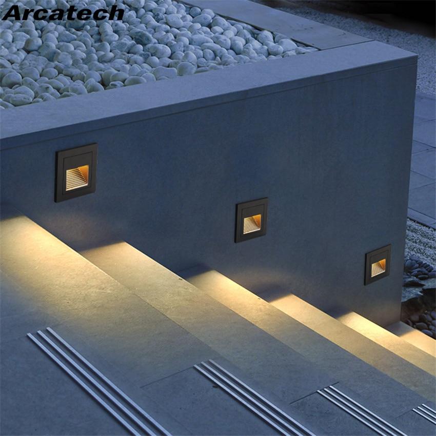 High Quality Led Footlights 1w 3w Embedded Wall Lights
