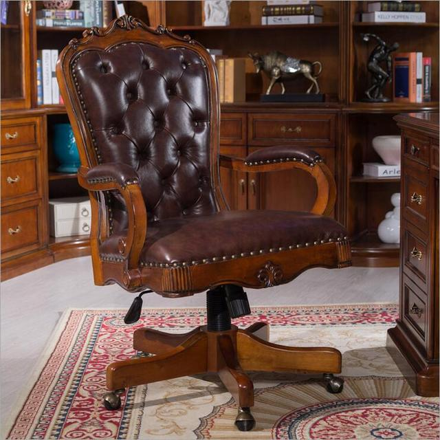 American President Of Luxury Office Furniture Chair Cowhide Chair Highlight  The Taste P10284