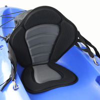 Kayak Soft Seat Cushion Pad Deluxe Padded Kayak Boat Seat Rowing Boat Padded Base High Adjustable Kayak Cushion with Backrest
