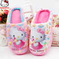 2017 Fashion brand winter baby girls warm cartoon kitty sandals children 's home pantofole indoor slippers kids footwear 16N1103