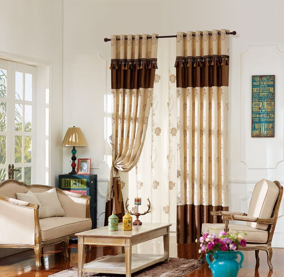 Blackout Curtains For Living Room Hotel European Simple: European Window Blackout Curtain For Living Room Bedroom