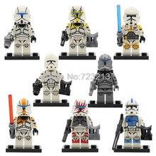 Única Venda de Star Wars Clone Trooper Figura Set SY1071 Starwars Stormtrooper Modelos de Conjuntos de Blocos de Construção Tijolos Brinquedos para Crianças