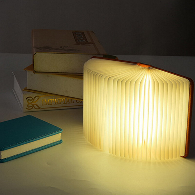 Creative Lumio-Style Led Folding Book Lamp 4 Colors Light Changing Innovative Gift P20 Small Light Night For Bedroom Desktop
