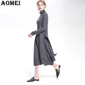 c90a04d84f61 Женские весенние платья-свитера тонкие теплые свободные вязаные крючком ...