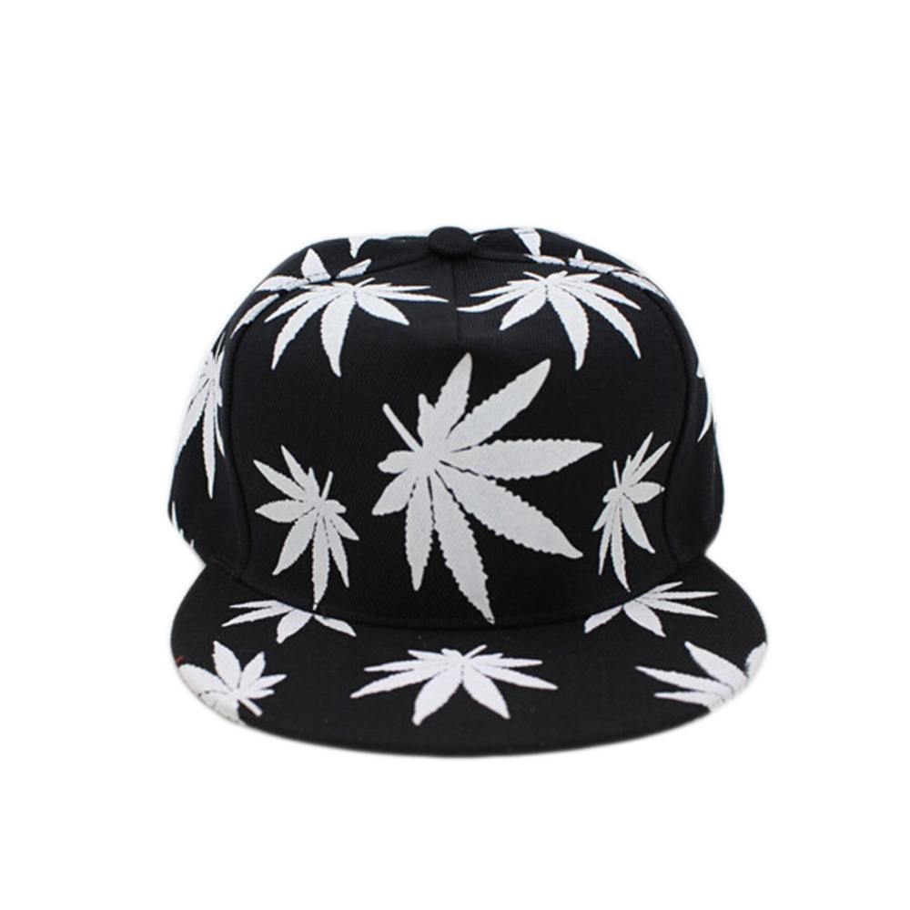 Glow Baseball Cap 2017 New Maple Leaf Pattern In The Dark Luminous Hip-Hop Hat Fashion Street Style Black Snapback Cap new hot style 2016outdoor fashion hat flat along the hip hop baseball cap creative sunbonnet sun hat