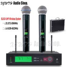 SLX24 BETA58A SM58 SM 58 UHF беспроводной микрофон Система одна запись студия Динамический Ручной караоке микрофон с коробкой