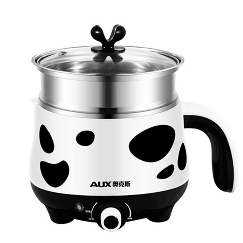 220V AUX 1.5L Mini Electric Multi Cooker For Student Office Worker Stainless Steel Rice Cooker Steamer Hot Pot 110v 220v dual voltage travel cooker portable mini electric rice cooking machine hotel student multi stainless steel cookers