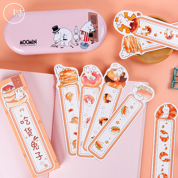 30Pcs/pack Cute Cartoon Eating Rabbit Paper Bookmark Book Markers School Supplies Stationery For KIids Gift 30pcs lot cute kawaii paper bookmark vintage japanese style book marks for kids school materials