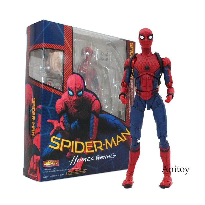 Spinne Mann Homecoming Die Spiderman Einfache Stil & Herioc Action PVC Action Figure Sammeln Modell Spielzeug 14 cm