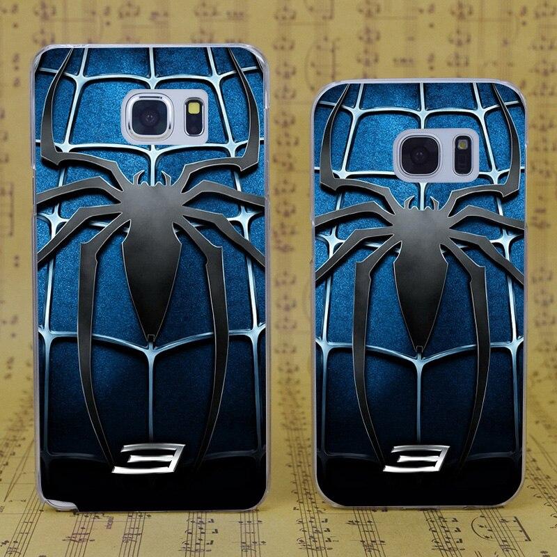 DREAM FOX B3551 <font><b>Spider</b></font> <font><b>Man</b></font> 3 <font><b>Blue</b></font> Chest Transparent Hard PC <font><b>Case</b></font> For <font><b>Samsung</b></font> <font><b>Galaxy</b></font> S 4 5 6 7 8 Mini Edge Plus Note 3 4 5 8