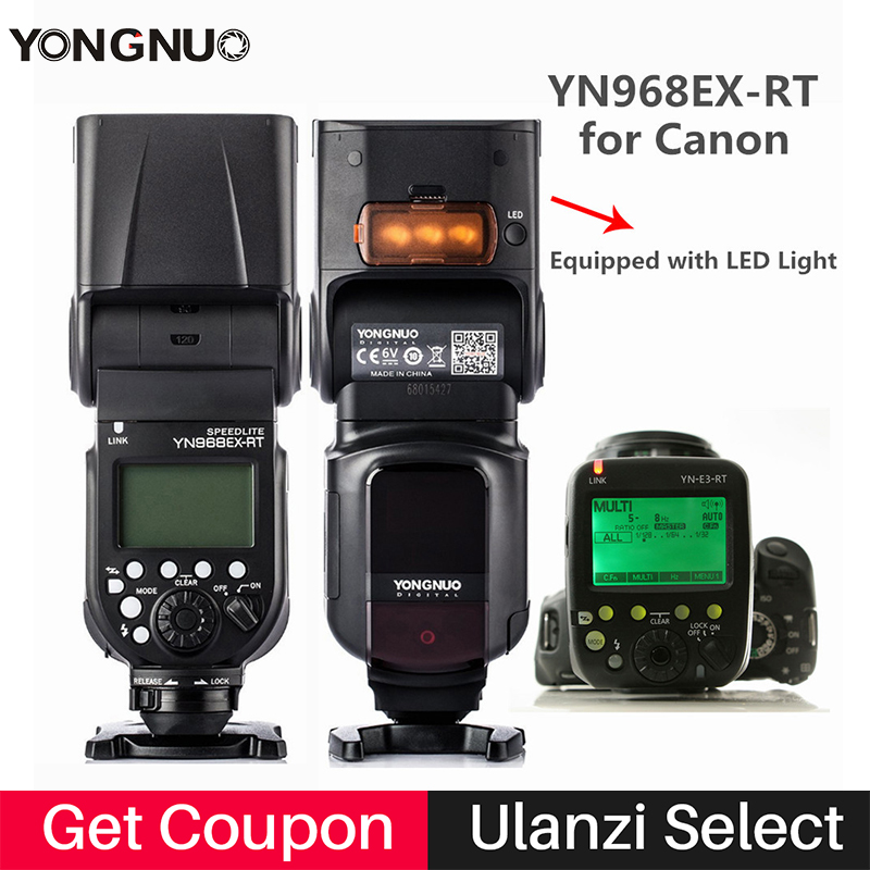 Yongnuo YN968EX-RT Flash Speedlite Haute-vitesse Sync TTL Flash Maître avec trigger YN-E3-RT pour Canon 600EX-RT/ST-E3-RT 700D 1100D