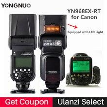 Фотовспышка Yongnuo Speedlite YN968EX-RT для Canon высокоскоростной Синхронизации TTL Беспроводная Вспышка Мастер и Светодиодные для Canon 600EX-RT/ST-E3-RT бесплатные подарки