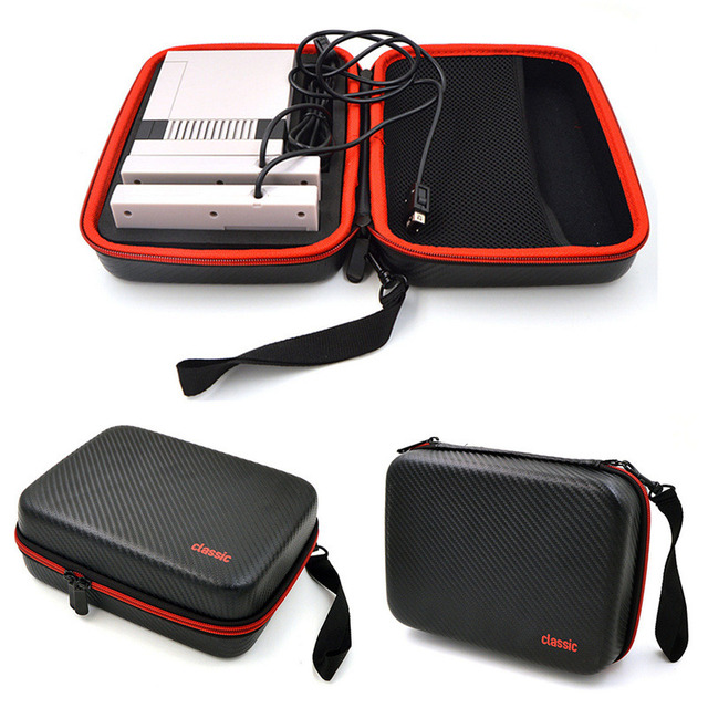 Balck Hard Carrying Case For Mini NES Classic Edition Console Travel Storage Bag for Nintendo for NES Classic Game Accessory