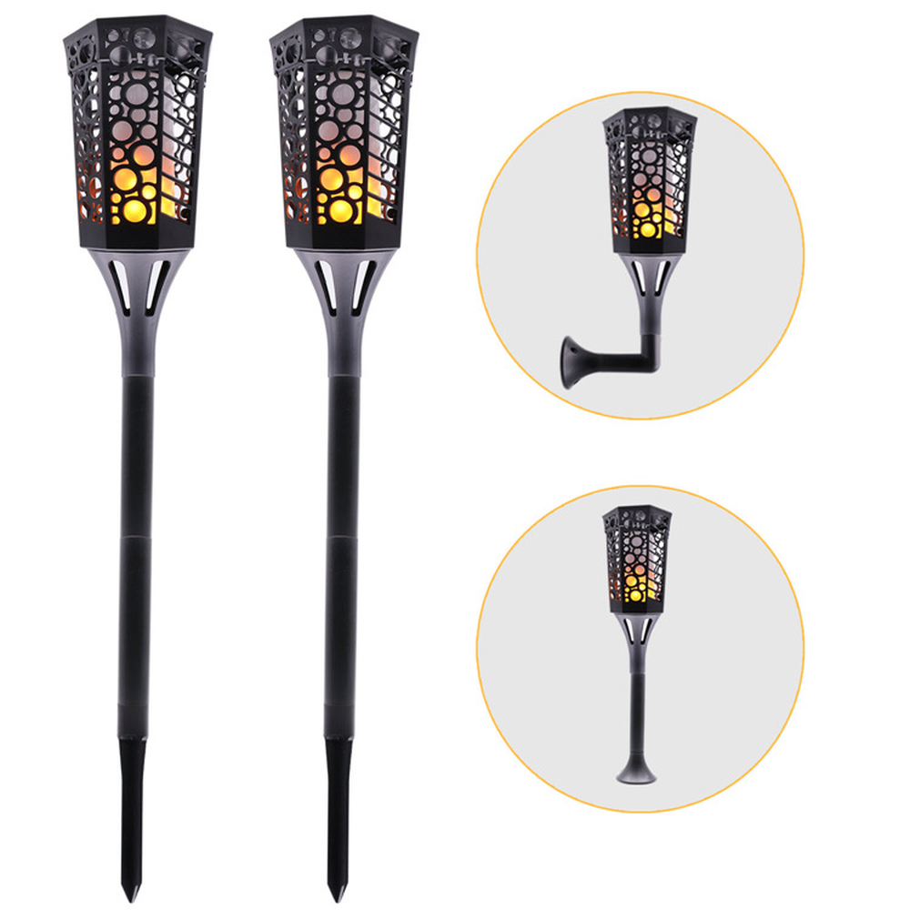 New 96 LEDs Solar Flame Flickering Court Lawn Lamps Led Torch Light Modern Dancing Flame Light Waterproof Outdoor Garden Decor