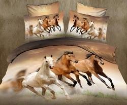 hot sale 3D animal horse twin king full double bedclothes bedspread pillowcase duvet cover set bedding set