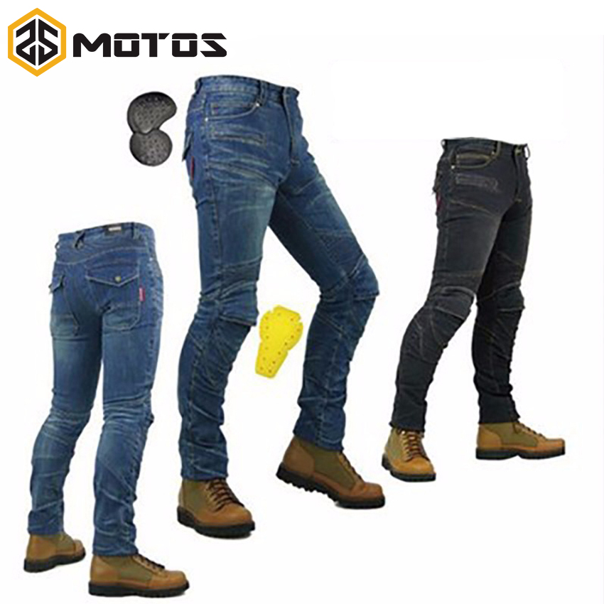 ZS MOTOS PK-718 motorcycle men pants/off-road women trousers/outdoor men jeans/cycling have pads pants цена