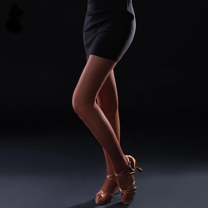 Black Toffee Professional Latin Fishnet Dance Tights Hård Stretch Ballroom Latin Dance Dress For Women