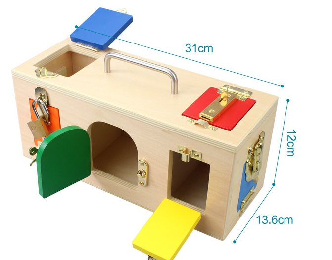 1 3 years Unlock toy Montessori teaching aids Early Childhood Intelligence Educational Toys Kids Learning & Education Kids Gift - 3