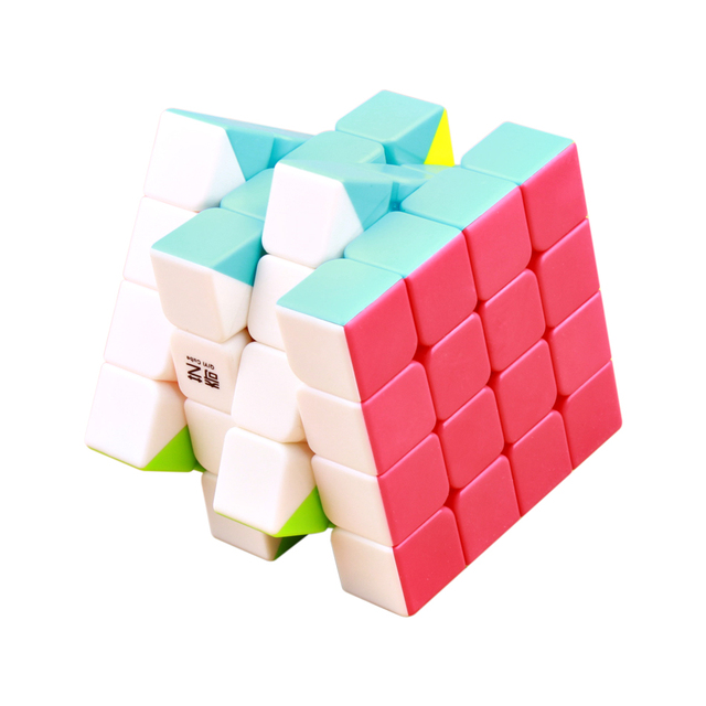 QiYi QiYuan S 4x4x4 Magic Speed Cube Stickerless Professional Puzzle Cubes Educational Toys For Children qiyi 4×4 cube
