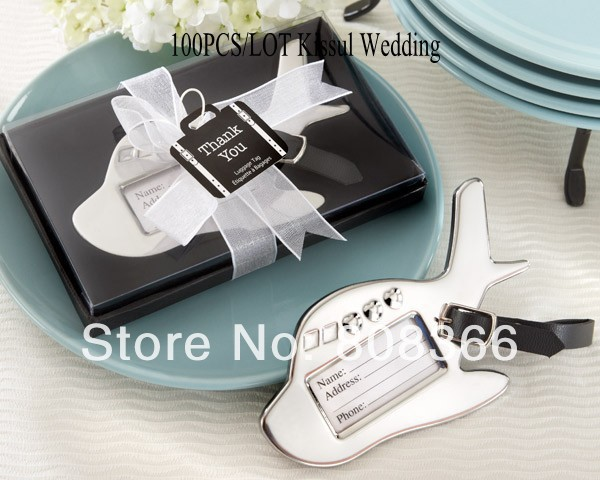 100 Pieces Lot Est Wedding Gift Favors Of Airplane Luggage Tag