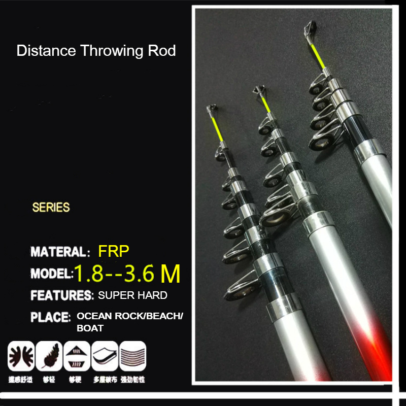 US $4.86 10% OFF|1.8M 2.4M 2.4M 2.7M 3.0M 3.6M 4.5M Portable Telescopic Fishing Rod Glass Fiber Fishing Pole Travel Sea Fishing Spinning Rod Dist-in Fishing Rods from Sports & Entertainment on Aliexpress.com | Alibaba Group