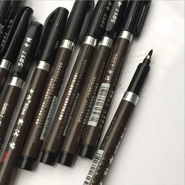 3 pz/lotto Multifunzione Pennello Penna di Calligrafia Penna Marcatori Arte di Scrittura Scuola Forniture per Ufficio di Cancelleria Studente di Trasporto libero 3