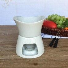 Керамический набор для фондю для таяния шоколада и сыра, горшок для фондю и горелка