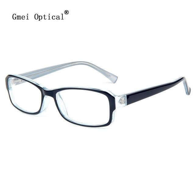Cornici per occhiali da vista rettangolari in plastica nera PcFKMixUg