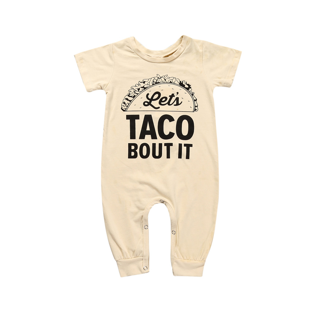 7f613f9e08900a MBR048 Newborn Baby Boy Girls Clothes Hamburg letters short sleeves Romper  Jumpsuit Outfits-in Rompers from Mother   Kids on Aliexpress.com