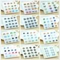 8 pairs of striped plastic earrings opal earrings drip pattern female hypoallergenic earrings cross earrings hot jewelry