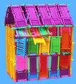 Juguetes игрушки монтессори для Детей палкой здание пластиковый стержень магия DIY собрать умный блок настольная игра малыш просветить кирпича
