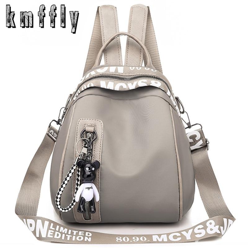 Women Backpack Rucksack Pendant School-Bags Teenagers Multifunction Small Waterproof Nylon