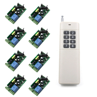 Farthest Distance 1000m 85V~250V 85V 110V 220V 250V 1CH RF Wireless Remote Control Relay Switch Security System Garage Doors