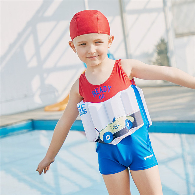 2466ecb7af SABOLAY Children Buoyancy Bathing Cartoon One-Piece Suits Vest Boys  Floating Swimwear UV Protection Baby