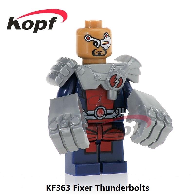 Single Sale Super Heroes Fixer Thunderbolts Captain Canuck Guardian Alpha Flight Bricks Building Blocks Children Toys Gift KF363