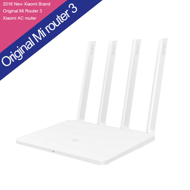 Original xiaomi router 3 rom 128 mb procesador mt7620a wifi 2.4g/5.0 ghz 1167 mbps 4 antena dual bandas inglés versión app control