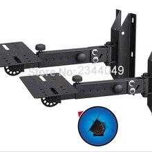 1 пара профессиональный Наклонный вращающийся объемный держатель динамик крепление на кронштейне держатель с металлической пластиной