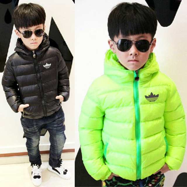 2016 winter new Korean children boys jacket short paragraph big virgin cotton candy-colored thick down jacket