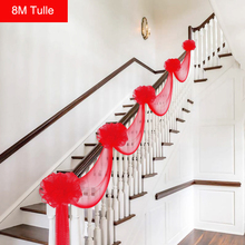 Buy stairs wedding decoration and get free shipping on aliexpress new tulle yarn flower balls garland tulle wedding decor home stairs diy decoration birthday wedding party junglespirit Image collections